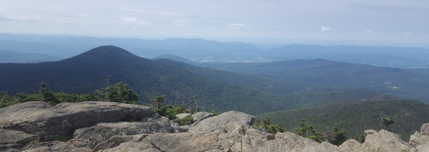 View from Killington Peak on the Vermont Long Trail, hiking up it was rough!