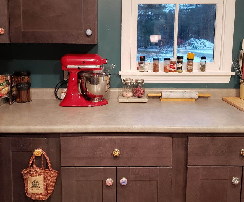 The Kitchen Aid makes the whole kitchen look finished, one of the best Christmas gifts.