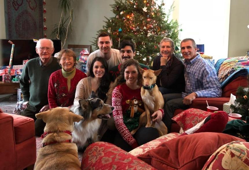Family photo at Christmas.