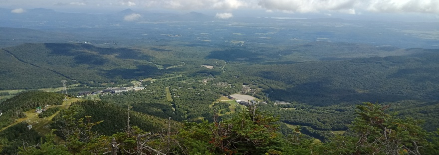 Final big view from Jay Peak in northern Vermont on the Long Trail.