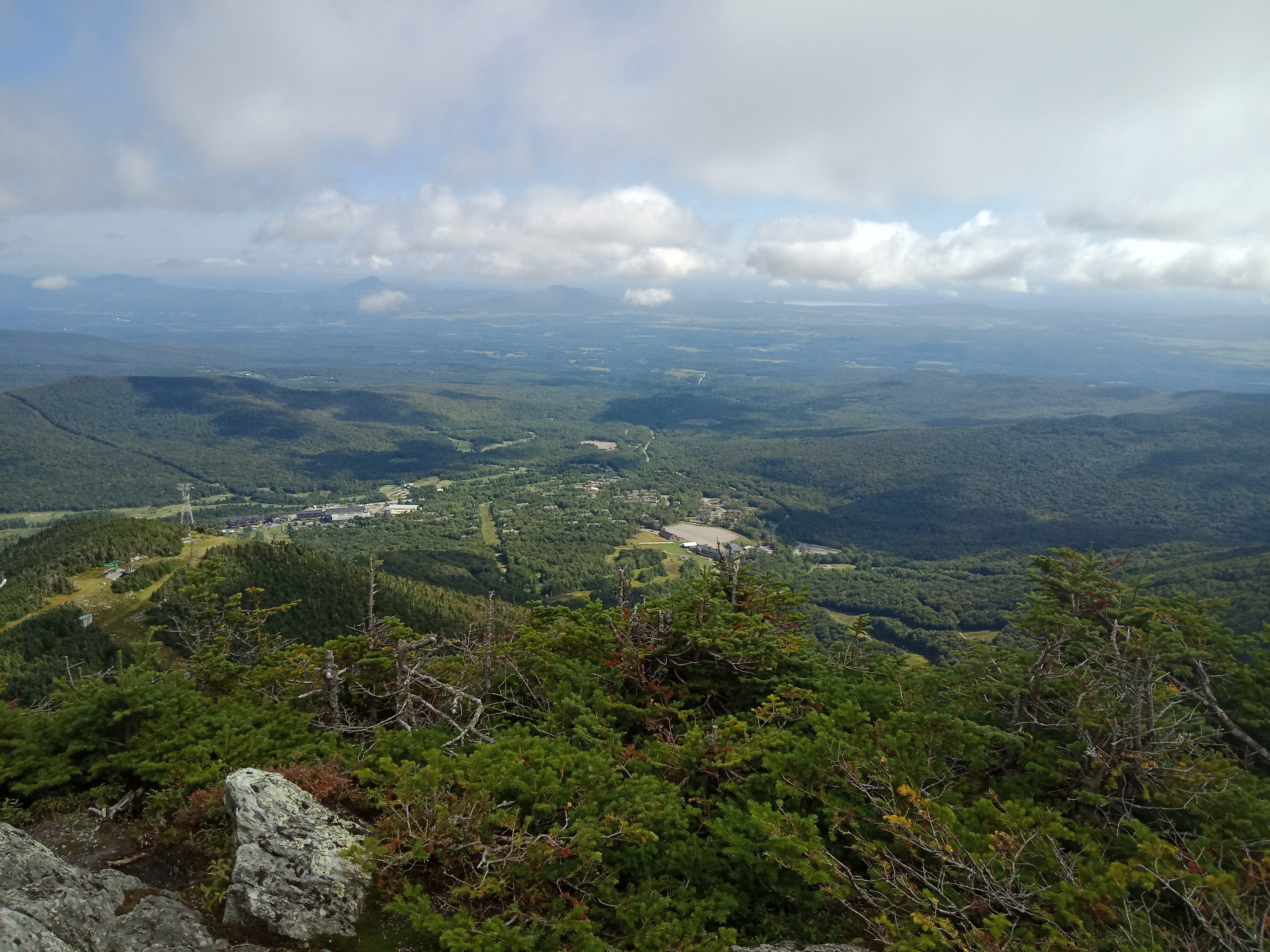 Summit view from the top of Jay Peak, the last big mountain on the Vermont Long Trail.