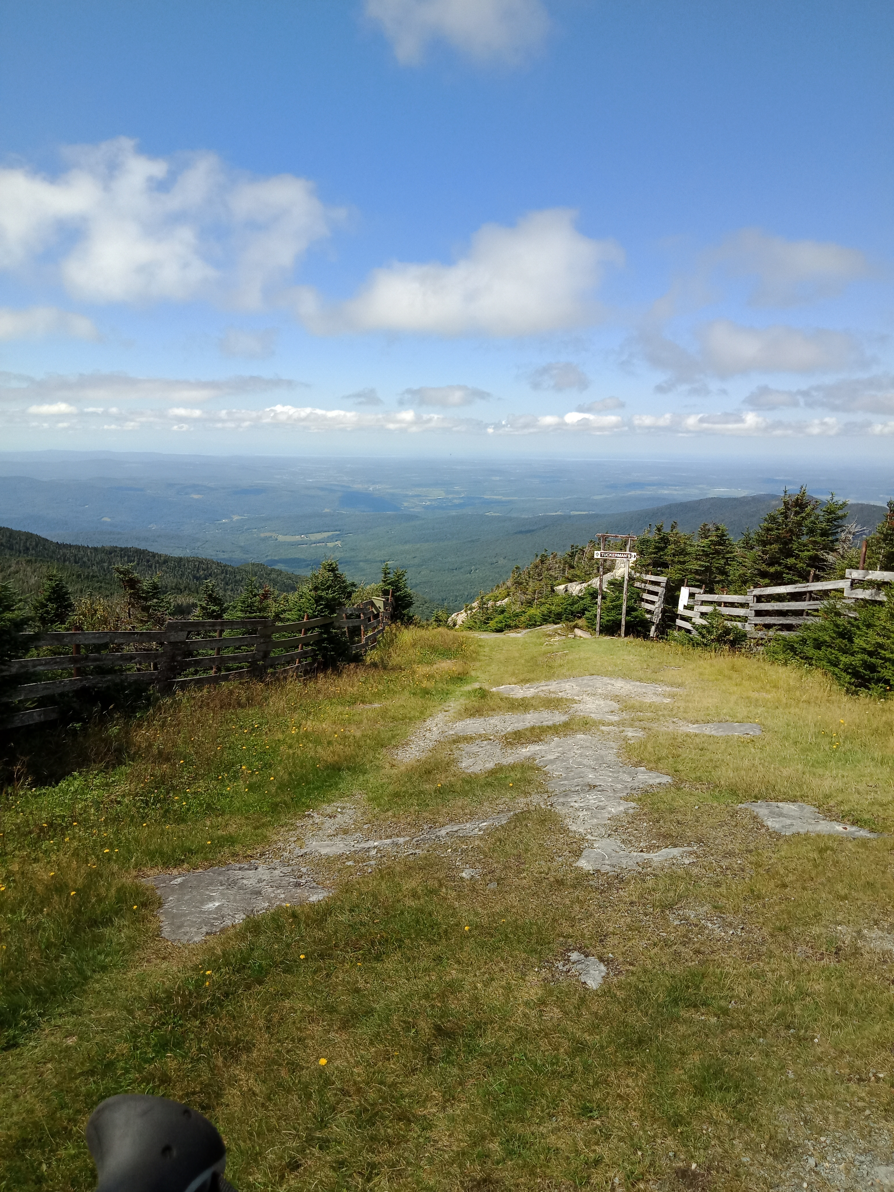 Photo of the downhill side of Jay Peak, less than 10 miles to Canada on the Vermont Long Trail.