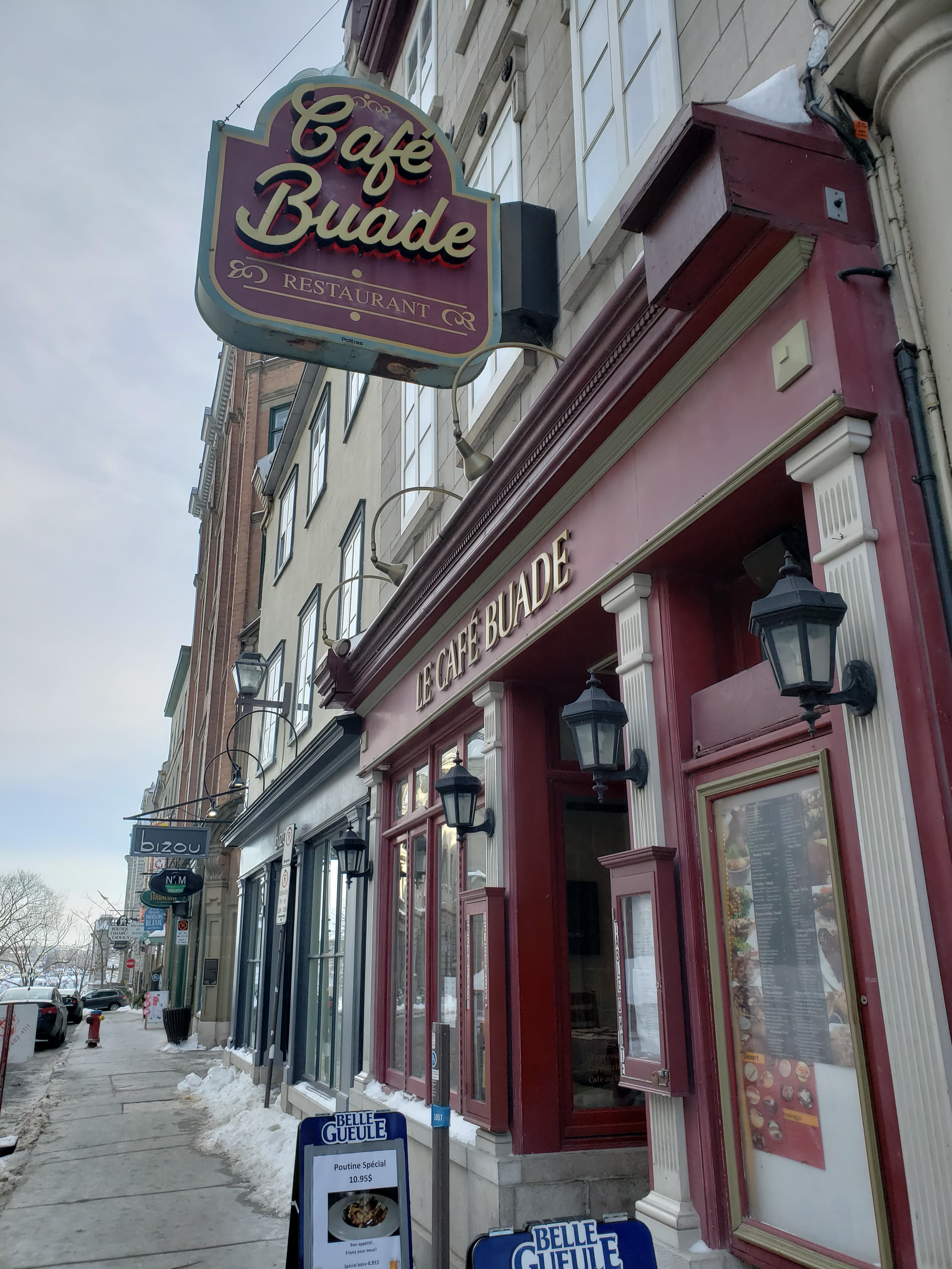 Cafe Buade in Old Quebec in Quebec City is a great spot to get a breakfast in during a weekend getaway.